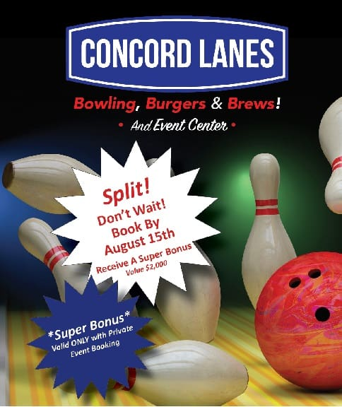 Concord Lanes Holiday Bookings