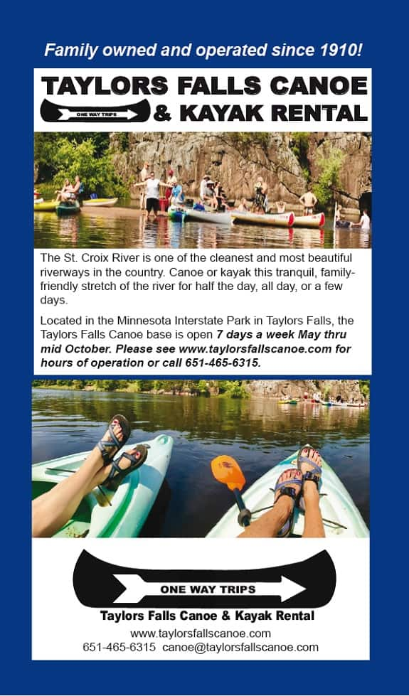 Taylors Falls Recreation Canoe & Kayak Rental Brochure