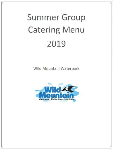 Wild Mountain Summer Catering Menu