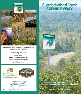 Iron Range Superior National Forest Scenic Byway Map