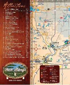 Iron Range 2019 Area Attractions Map