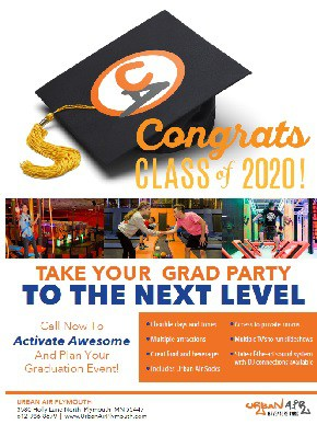 Urban Air Graduation Party Flyer