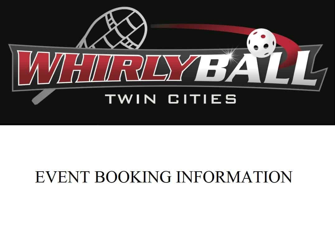 WhirlyBall Event Booking Information