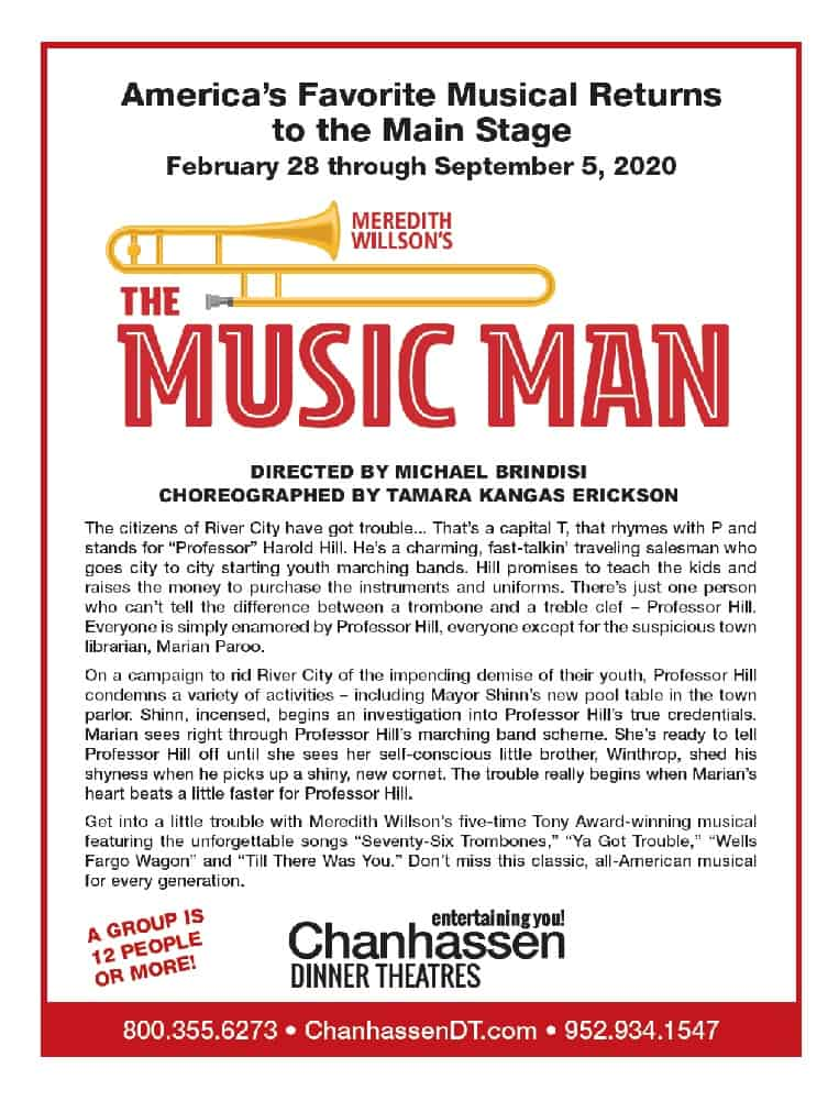 The Music Man Chanhassen Dinner Theatres Group Information