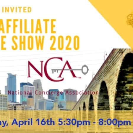 NATIONAL CONCIERGE ASSOCIATION MN CHAPTER | You're Invited to the NCA Affiliate Trade Show 2020