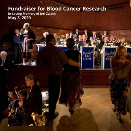BEASLEY'S BIG BAND Invites you to a fundraiser for blood cancer research. Sunday, May 3rd. 6:00-9:00pm at the Wabasha Street Caves, St. Paul