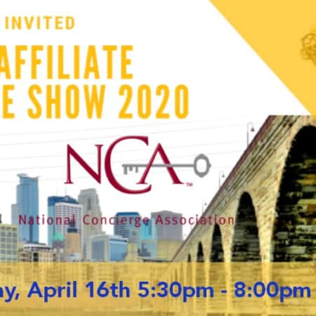 NATIONAL CONCIERGE ASSOCIATION | You're Invited to the 2020 NCA Affiliate Trade Show