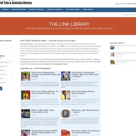 The LINK LIBRARY - Now Available to Use & Share! Filled with Free Videos by MN Providers... Fun for All Ages!