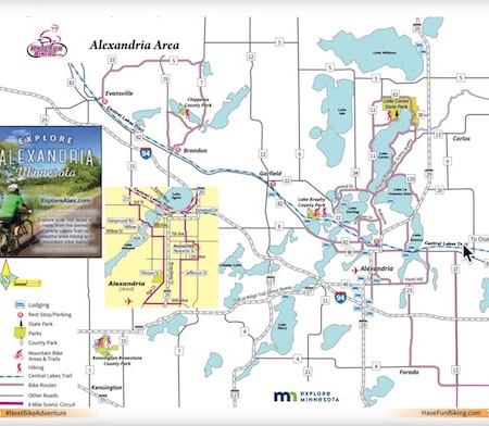 MN BIKE/HIKE GUIDE | It's Not to Late To Do Some FALL BIKING!  Download Trail Maps From Around MN - Like This One...